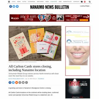 All Carlton Cards stores closing, including Nanaimo location – Nanaimo News Bulletin