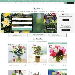 Livraison de fleurs avec le fleuriste BeBloom.com