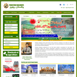 ArchiveBay.com - pakrail.gov.pk - Pakistan Railways