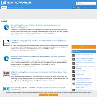 Artikel - Windows 10 Forum - Win-10-Forum.de