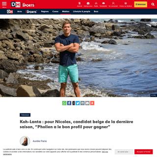 """Koh-Lanta - pour Nicolas, candidat belge de la dernière saison, """"Pholien a le bon profil pour gagner"""" - DH Les Sports+"""
