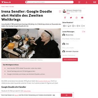 Irena Sendler- Google Doodle ehrt Heldin des Zweiten Weltkriegs