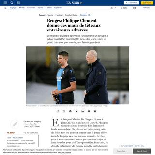 Bruges- Philippe Clement donne des maux de tête aux entraîneurs adverses - Le Soir Plus