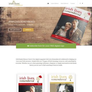 Home - Irish Lives Remembered