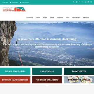 ISA - International Slackline Association - Main page