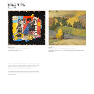 Gerald Peters Gallery - American Art & Sculpture - New York - Santa Fe