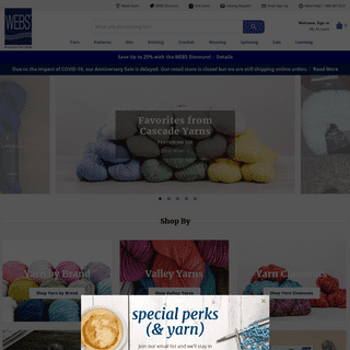 WEBS - America's Yarn Store - Knitting, Crochet, Weaving, Spinning at WEBS - Yarn.com
