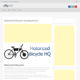 Motorized Bicycle HQ - Your Motorized Bicycle Resource