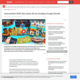 Laternenfest 2020- Das sehen Sie im heutigen Google Doodle - CHIP