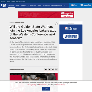 Will the Golden State Warriors join the Los Angeles Lakers atop of the Western Conference next season- - NBA.com India - The off