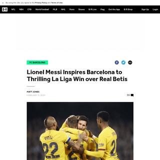 Lionel Messi Inspires Barcelona to Thrilling La Liga Win over Real Betis - Bleacher Report - Latest News, Videos and Highlights