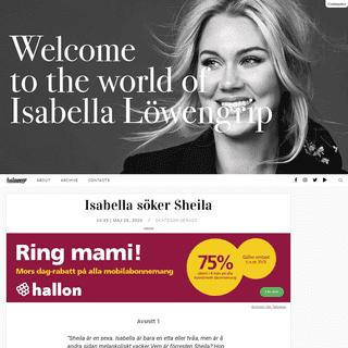 Isabella söker Sheila - Isabella Löwengrip