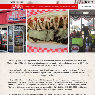 ArchiveBay.com - bigmills.com - Big Mill's Cheesesteaks - A Sandwich Shop - Gainesville, Florida