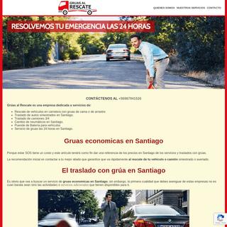 Gruas- Servicio de Gruas en Santiago para Autos y Camiones 24 horas