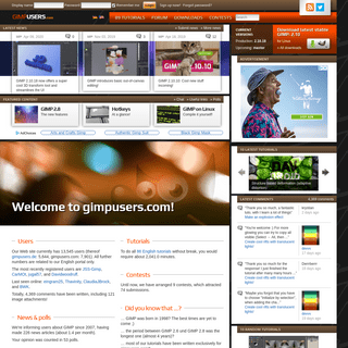 News, tutorials, community, contests about GIMP — gimpusers.com