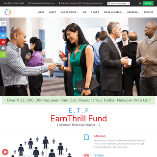 Official Home Page - Earnthill Foundation
