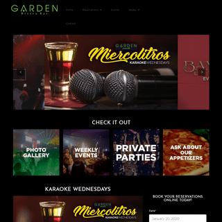 Top Rated Night Club - Karaoke Bar - Nightlife - Garden Bistro Bar