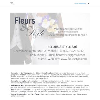 FLEURS & STYLE Sàrl - Pour vos décorations de rêve !