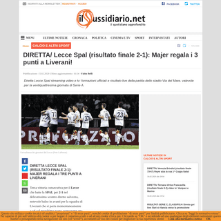 ArchiveBay.com - www.ilsussidiario.net/news/diretta-lecce-spal-streaming-video-tv-di-biagio-la-prima-con-gli-estensi-serie-a/1984160/ - DIRETTA- Lecce Spal (risultato finale 2-1)- Majer regala i 3 punti a Liverani!