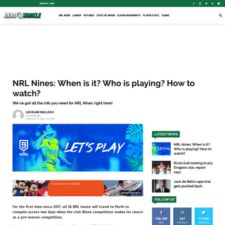 NRL Nines- When is it- Who is playing- How to watch- - Zero Tackle