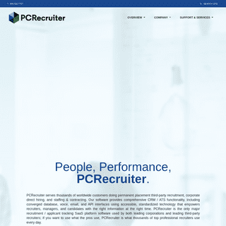 Recruiting Software and Applicant Tracking System - PCRecruiter