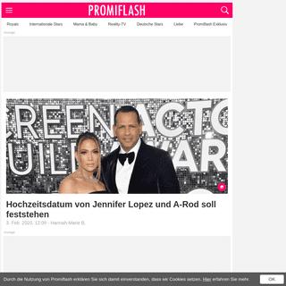 Hochzeitsdatum von Jennifer Lopez und A-Rod soll feststehen - Promiflash.de