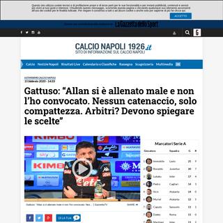 ArchiveBay.com - www.calcionapoli1926.it/video/diretta-gattuso-presenta-in-conferenza-stampa-cagliari-napoli/ - DIRETTA - Gattuso in conferenza per presentare Cagliari-Napoli