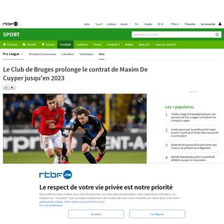 ArchiveBay.com - www.rtbf.be/sport/football/belgique/jupilerproleague/detail_club-bruges-prolonge-le-contrat-de-maxim-de-cuyper?id=10438426 - Le Club de Bruges prolonge le contrat de Maxim De Cuyper jusqu'en 2023