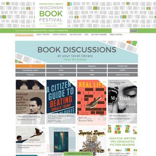 Home - Wisconsin Book Festival
