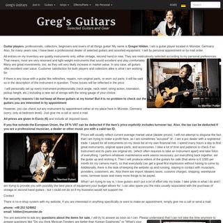 Greg's Guitars - Selected Guitars and Gear