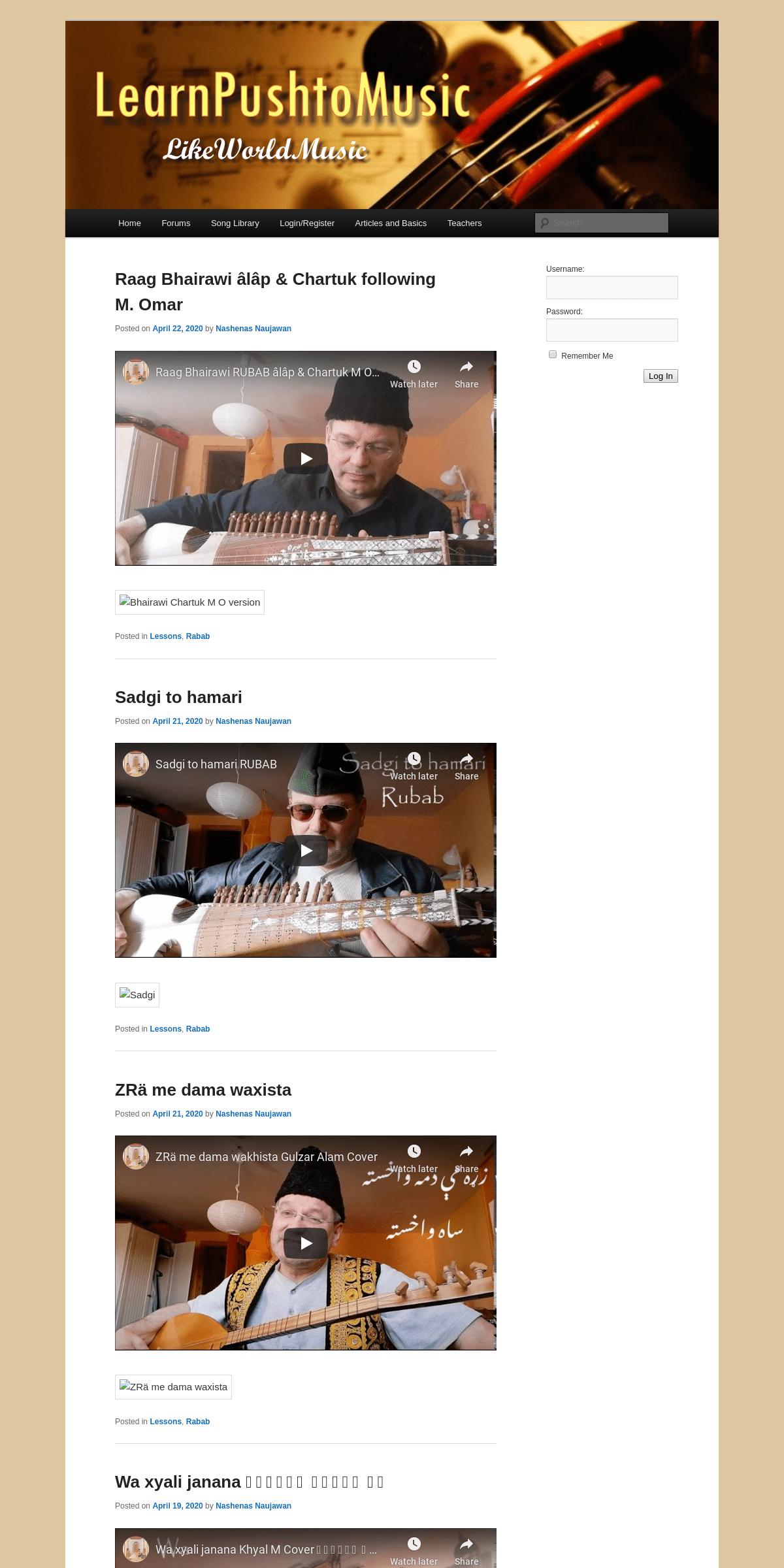LearnPushtoMusic - Like World Music