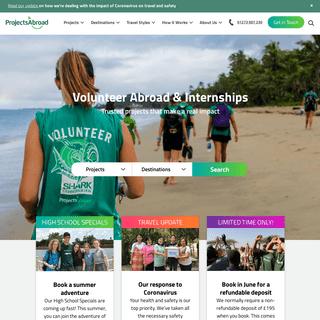 Volunteer Abroad & Internship Programs - Projects Abroad UK