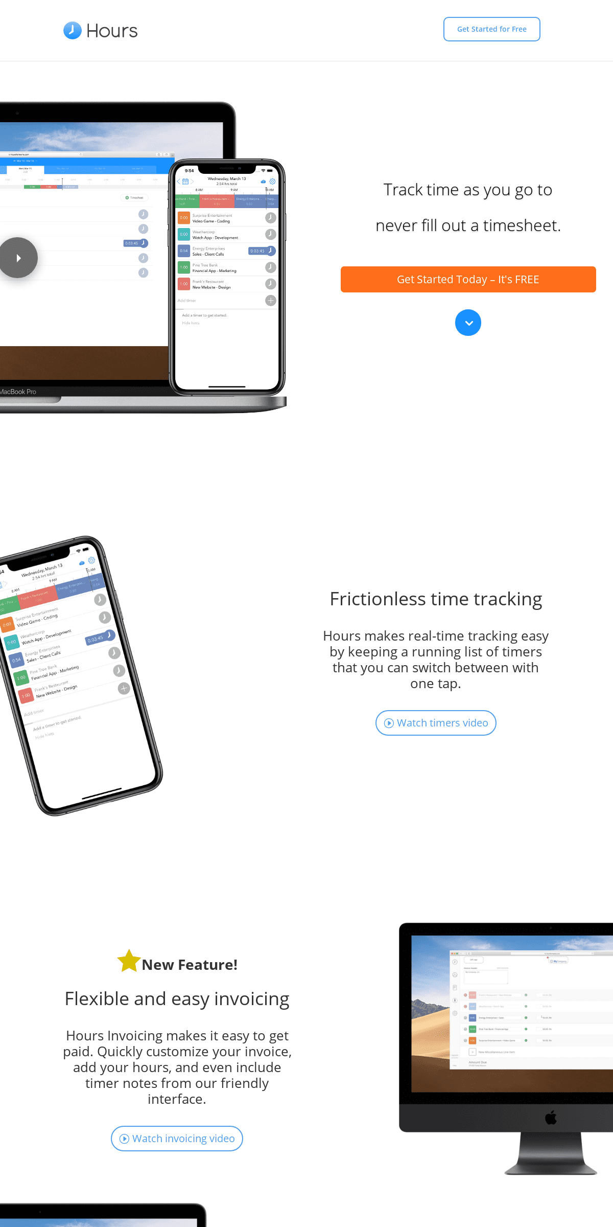Hours - Time Tracking App Online - Try Hours For Free!