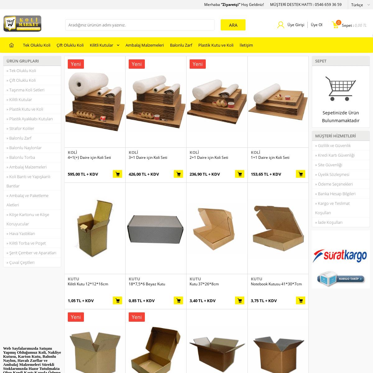 Koli Satışı Oluklu Mukavva Koliler Karton Kutu - Kolimarket.com