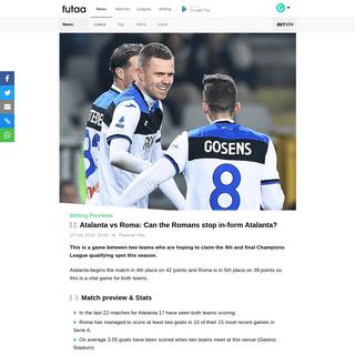ArchiveBay.com - www.futaa.com/article/202511/atalanta-vs-roma-can-the-romans-stop-in-form-atalanta - 🤑🥅 Atalanta vs Roma- Can the Romans stop in-form Atalanta-