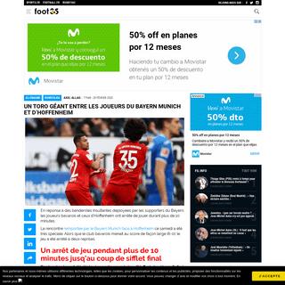 Un toro géant entre les joueurs du Bayern Munich et d'Hoffenheim - Football 365