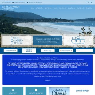 Carmel Chamber of Commerce • Creating the Links • Carmel California