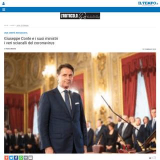 Giuseppe Conte e i suoi ministri i veri sciacalli del coronavirus - Il Tempo
