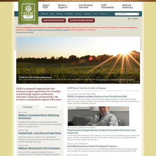 CCOF - Organic certification, education and outreach, advocacy and leadership since 1973.