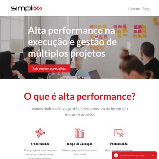 Alta Performance em Projetos - Simplix Consultoria e Sistemas