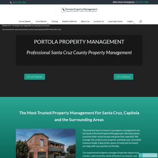 Professional Santa Cruz County Property Management - Portola Property Management