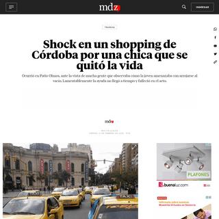 Shock en un shopping de Córdoba por una chica que se quitó la vida - MDZ Online