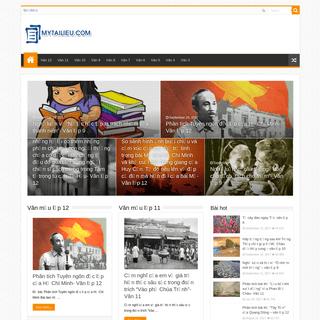 Mytailieu.com - Kho tài liệu học tập dành cho học sinh, giáo viên tham khảo