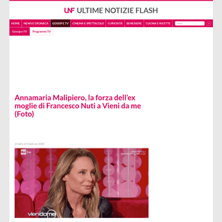 Annamaria Malipiero, la forza dell'ex moglie di Francesco Nuti a Vieni da me (Foto) - Ultime Notizie Flash