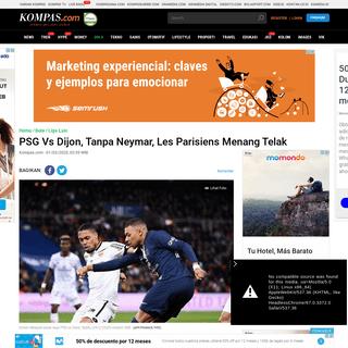 PSG Vs Dijon, Tanpa Neymar, Les Parisiens Menang Telak Halaman all - Kompas.com