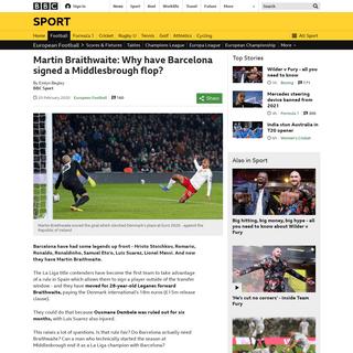 ArchiveBay.com - www.bbc.co.uk/sport/football/51576625 - Martin Braithwaite- Why have Barcelona signed a Middlesbrough flop- - BBC Sport