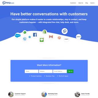 Home - Help.com - Live Chat & Help Desk Software