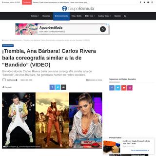 ¡Tiembla, Ana Bárbara! Carlos Rivera baila coreografía similar a la de -Bandido- (VIDEO)