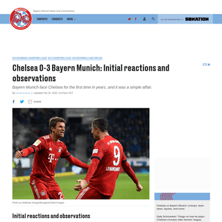 Chelsea 0-3 Bayern Munich- Initial reactions and observations - Bavarian Football Works