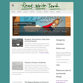 readwriteteach - musings on books, words, and pedagogy